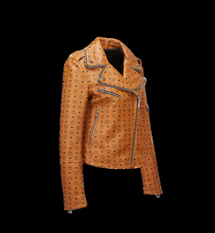 MCM Women's Visetos Print Leather Rider Jacket Cognac MFJ8SMM63CO00L Alternate View 2