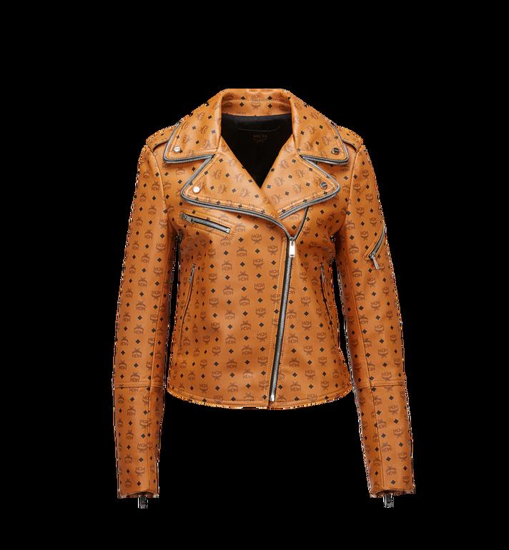 MCM Women's Visetos Print Leather Rider Jacket Alternate View