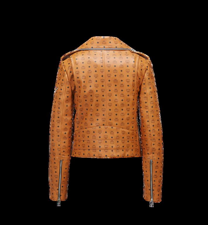 MCM Women's Visetos Print Leather Rider Jacket Cognac MFJ8SMM63CO00S Alternate View 3