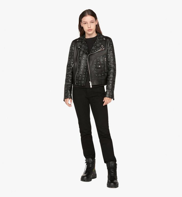 MCM Women's Rider Jacket in Visetos Black MFJ9AMM01BK044 Alternate View 3
