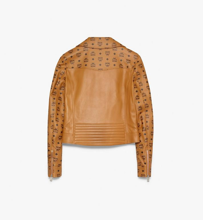 MCM Women's Rider Jacket in Visetos Cognac MFJ9AMM01CO038 Alternate View 2