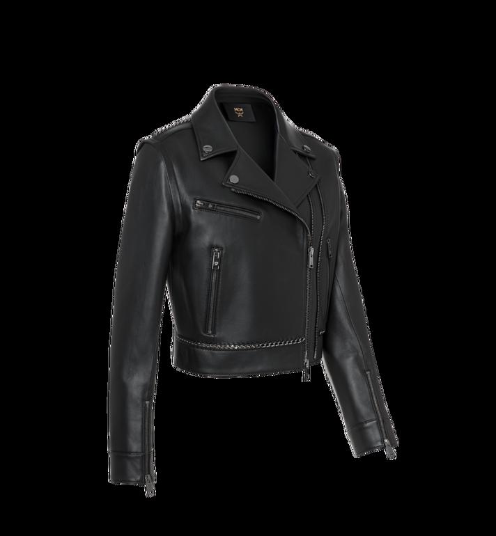 MCM Women's Chain Detail Leather Rider Jacket Alternate View 2