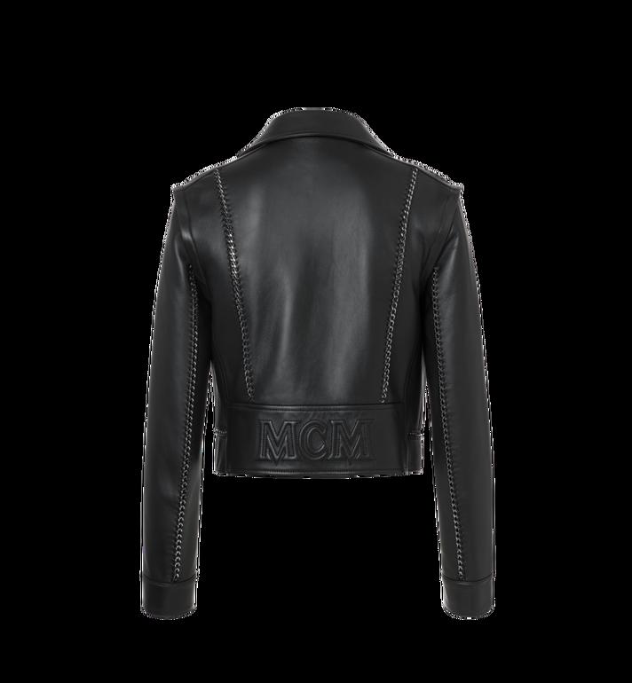 MCM Women's Chain Detail Leather Rider Jacket Alternate View 3