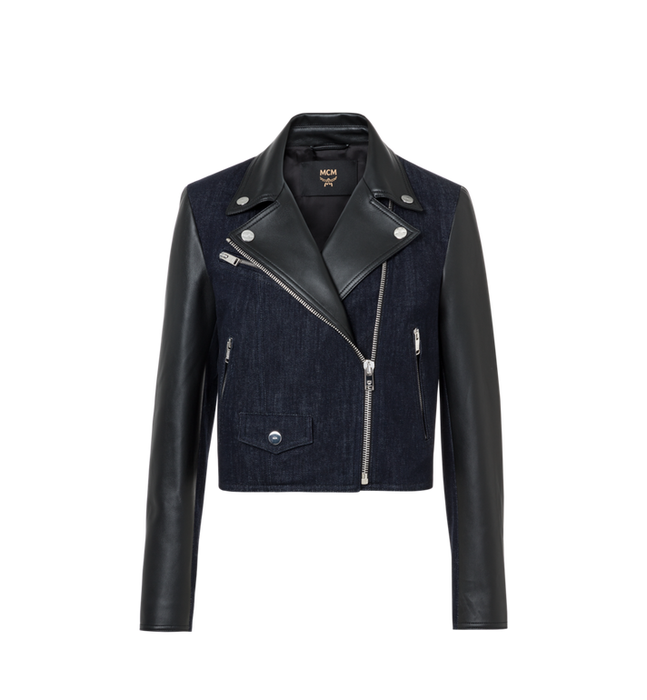 MCM Women's Denim and Leather Rider Jacket Alternate View