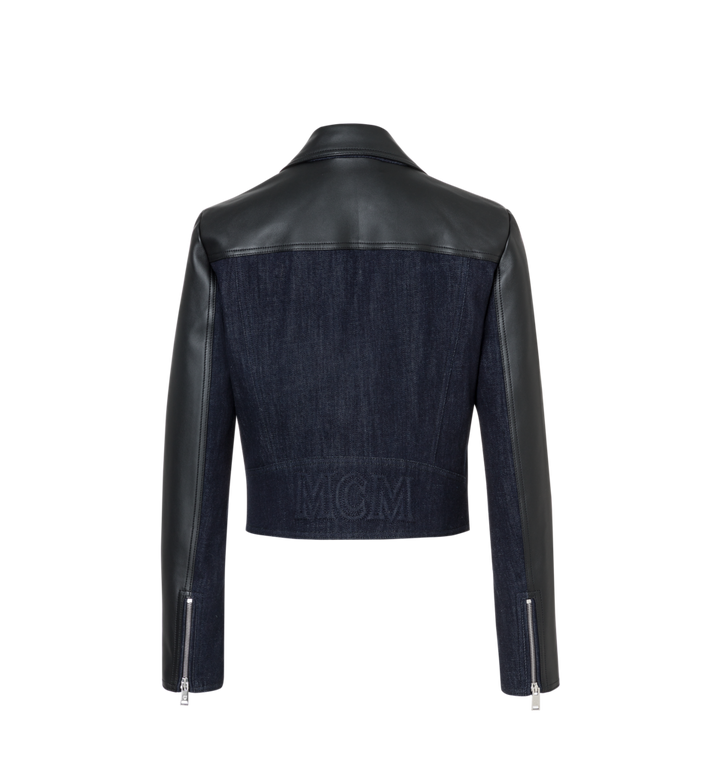 MCM Women's Denim and Leather Rider Jacket Alternate View 3