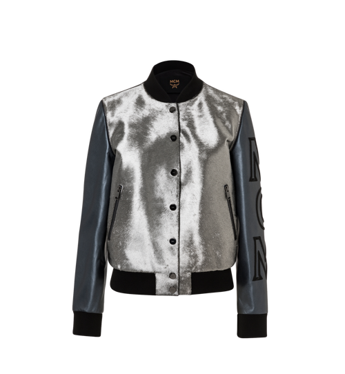 Women's Haircalf Leather Bomber Jacket