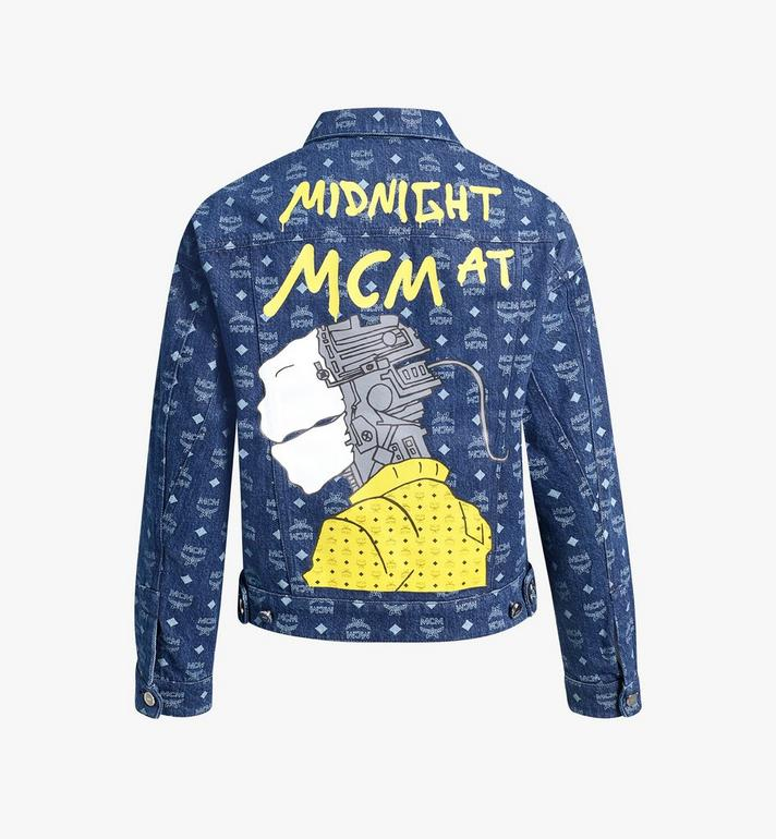 MCM Women's MCM x Midnight Monogram Denim Jacket  MFJAAUP03HD040 Alternate View 2