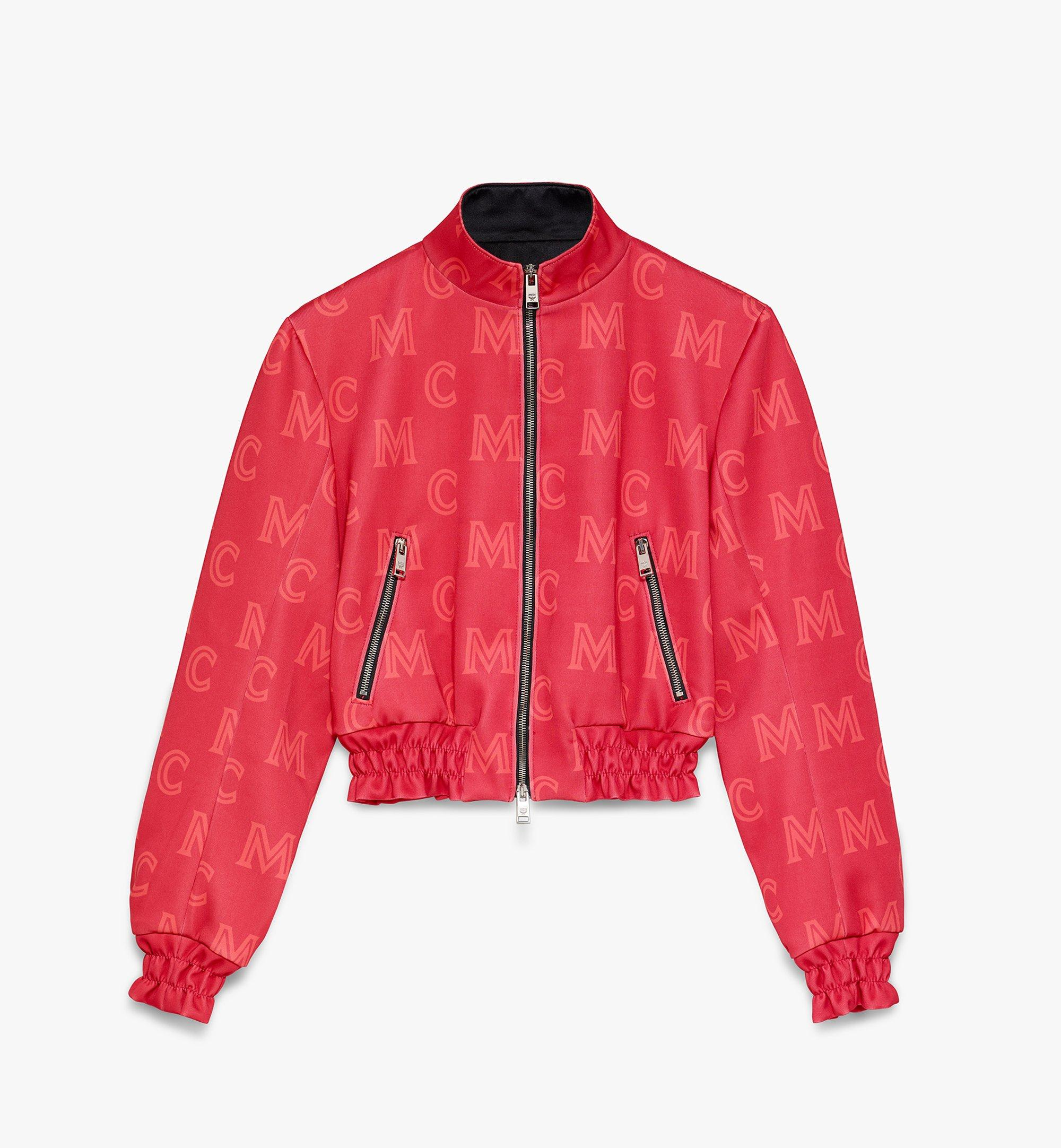 MCM Women's Monogram Track Jacket Red MFJASMM02R400M Alternate View 1