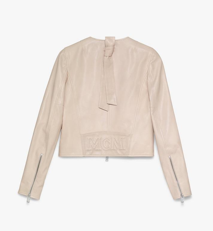 MCM Women's Leather Jacket Pink MFJASMV05IH038 Alternate View 2