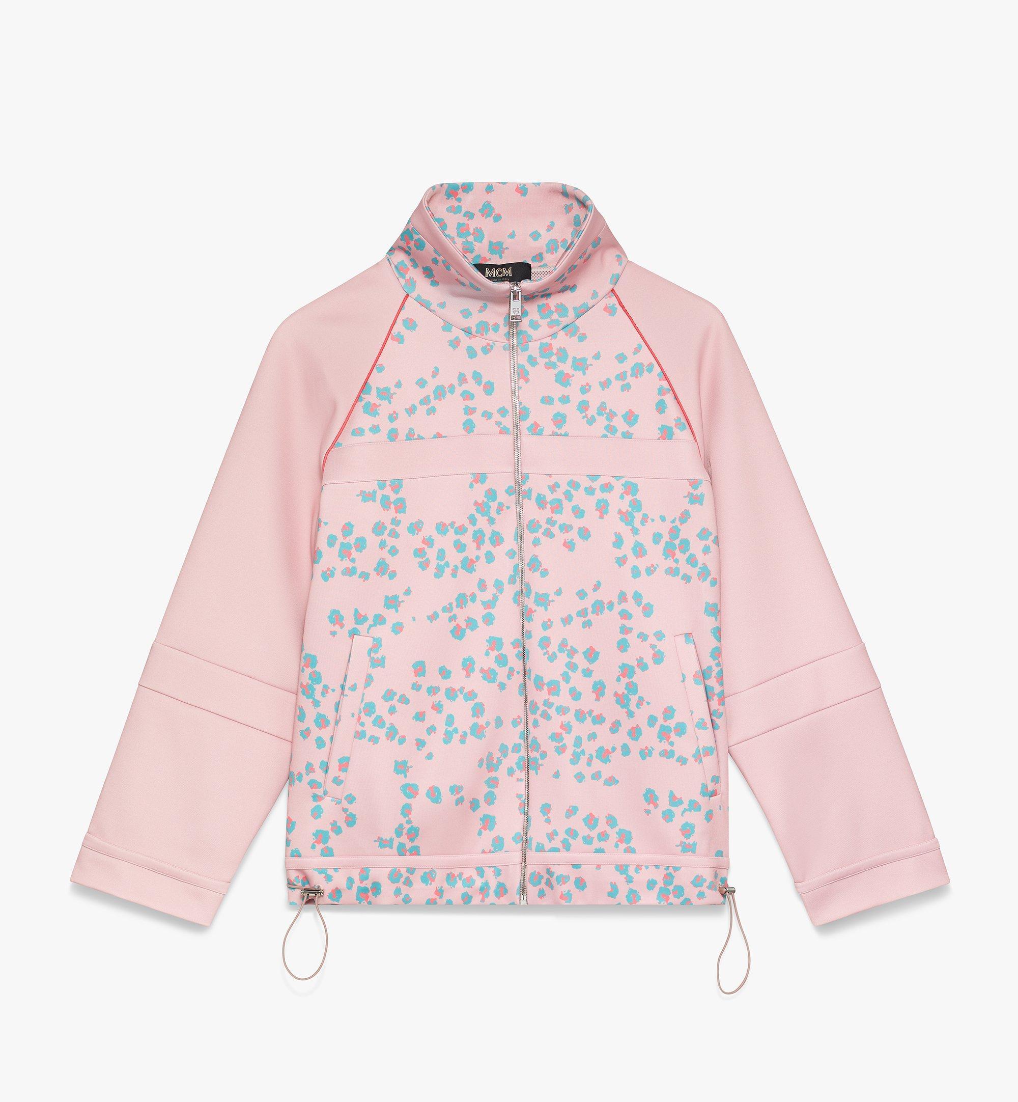 MCM Women's Floral Leopard Print Track Jacket Pink MFJASSE01QI00L Alternate View 1