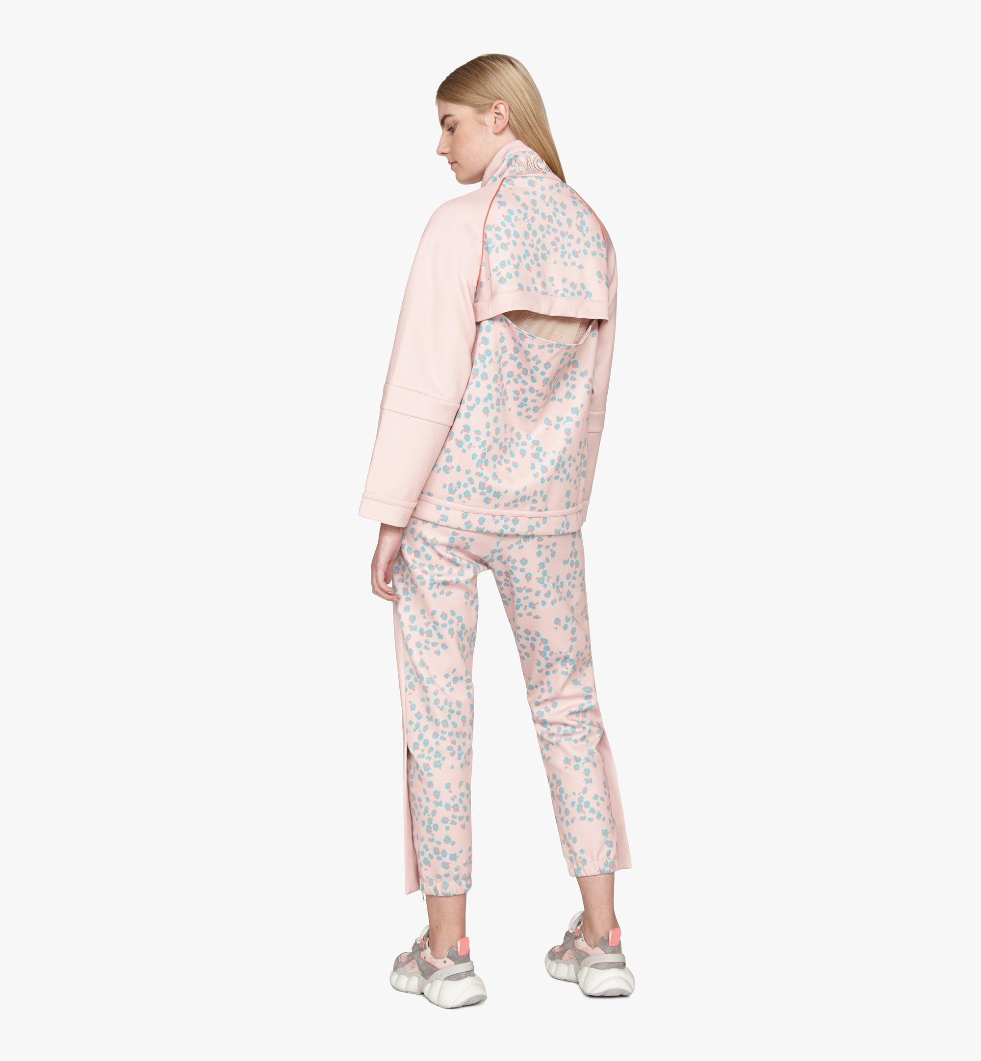 MCM Women's Floral Leopard Print Track Jacket Pink MFJASSE01QI00L Alternate View 2