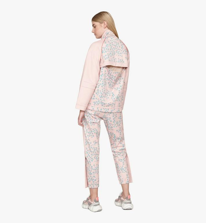 MCM Women's Floral Leopard Print Track Jacket Pink MFJASSE01QI00M Alternate View 4