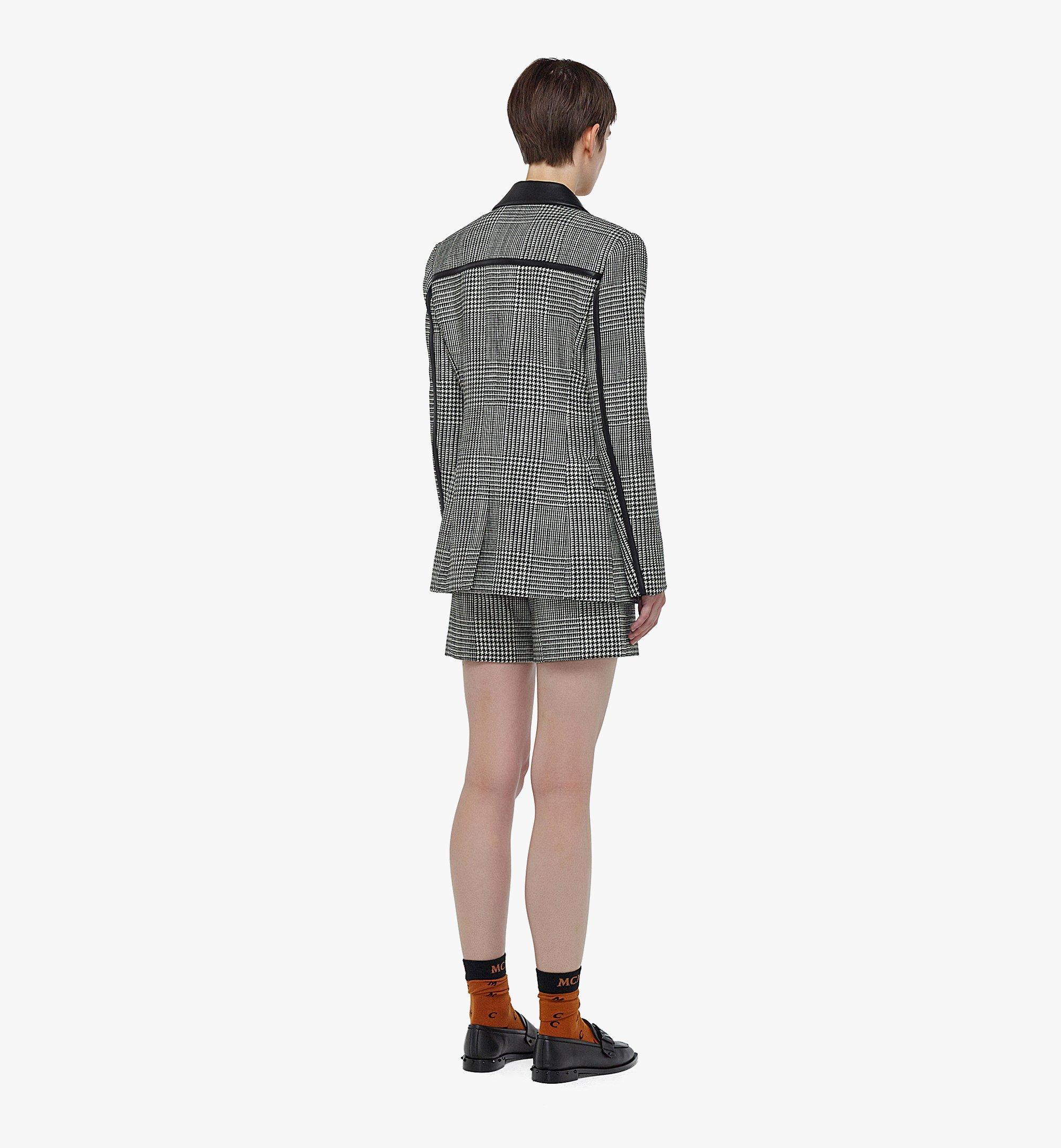 MCM Women's Check Wool Blazer Black MFJBAMM01BK038 Alternate View 2