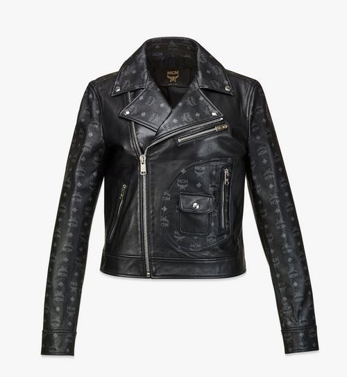 여성용 업사이클링 프로젝트 모노그램 레더 재킷