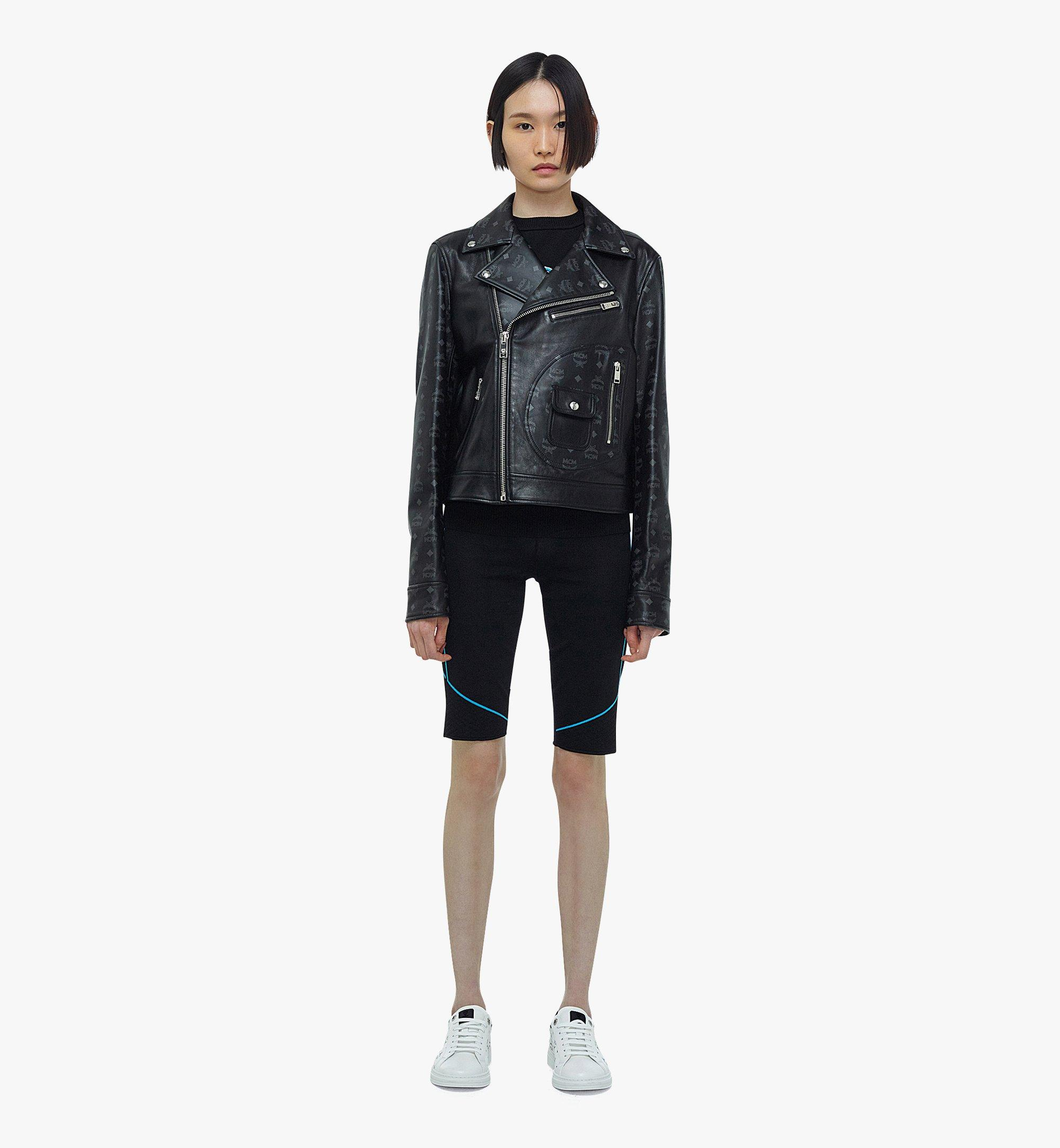 MCM Women's Upcycling Project Monogram Leather Jacket Black MFJBAUP01BK040 Alternate View 3