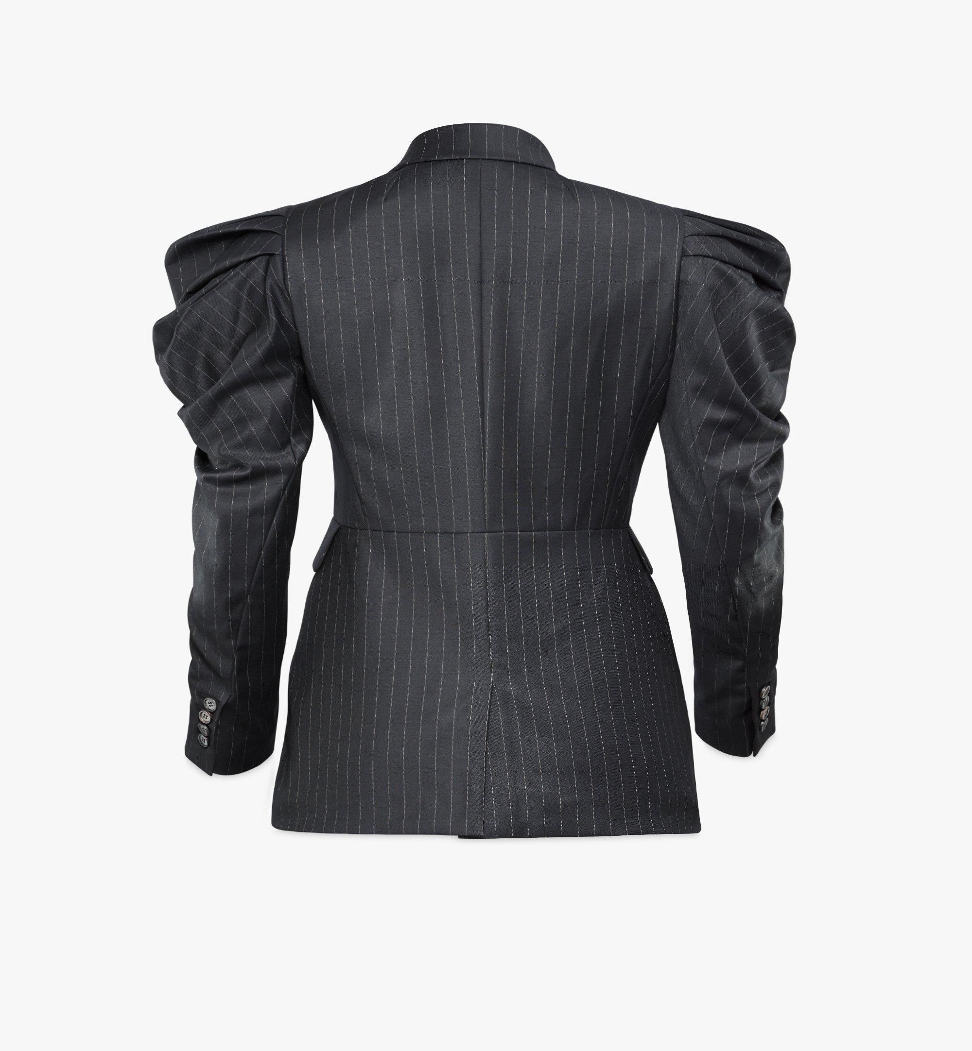 MCM Women's Draped Wool Blazer Black MFJBSMM01B2038 Alternate View 1