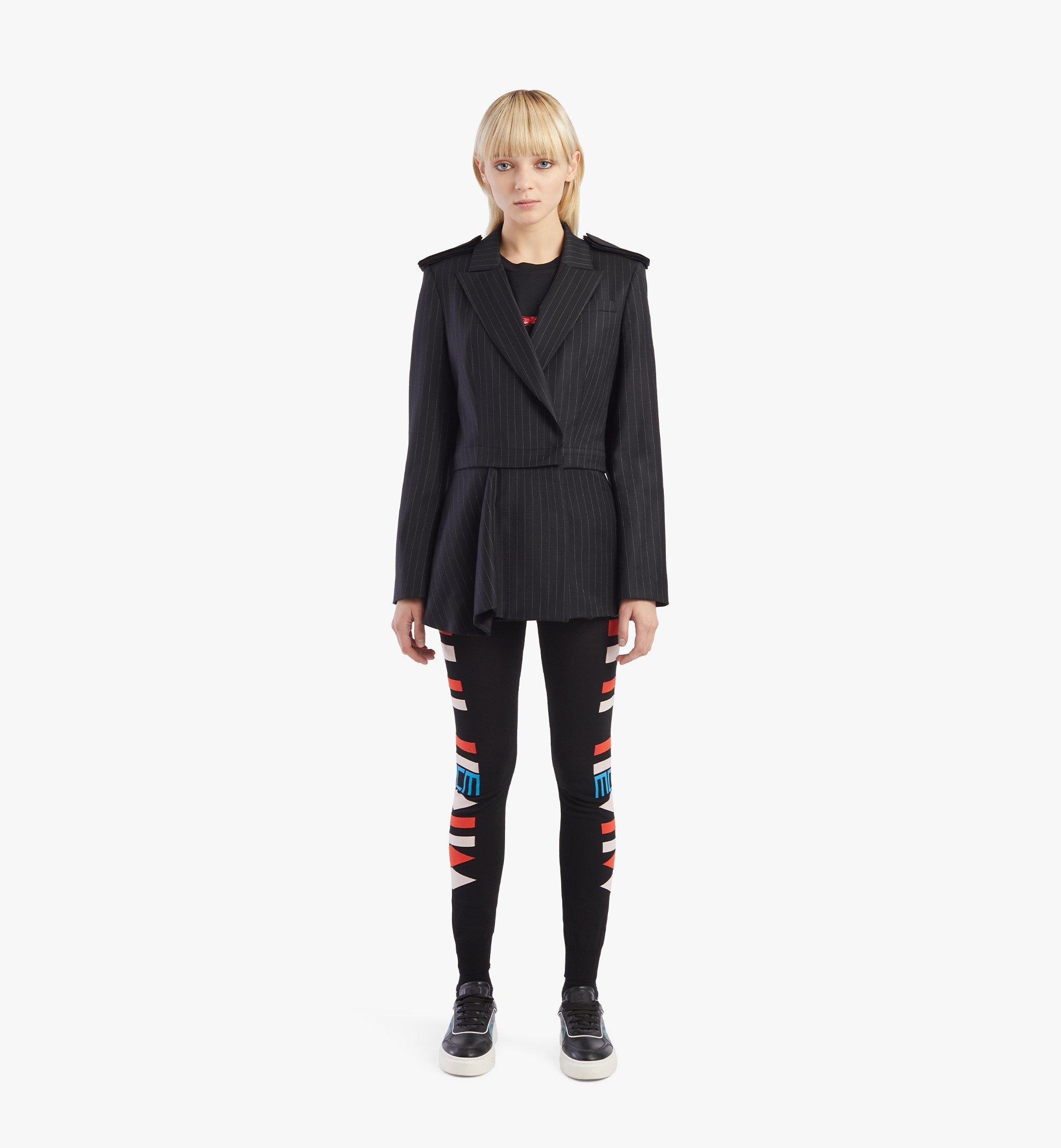 MCM Women's Epaulette Wool Blazer Black MFJBSMM02B2038 Alternate View 3