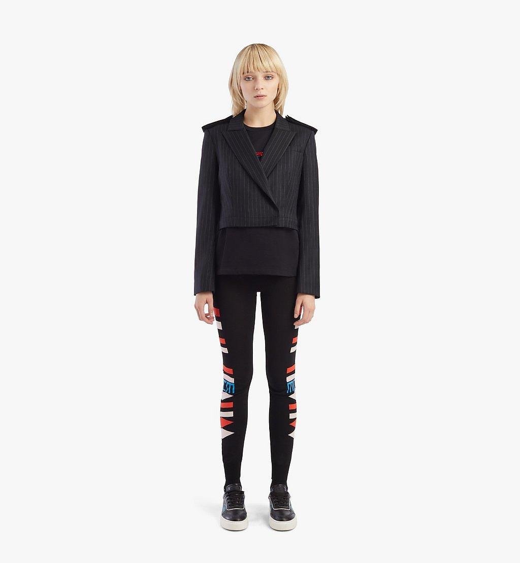 MCM Women's Epaulette Wool Blazer Black MFJBSMM02B2038 Alternate View 4