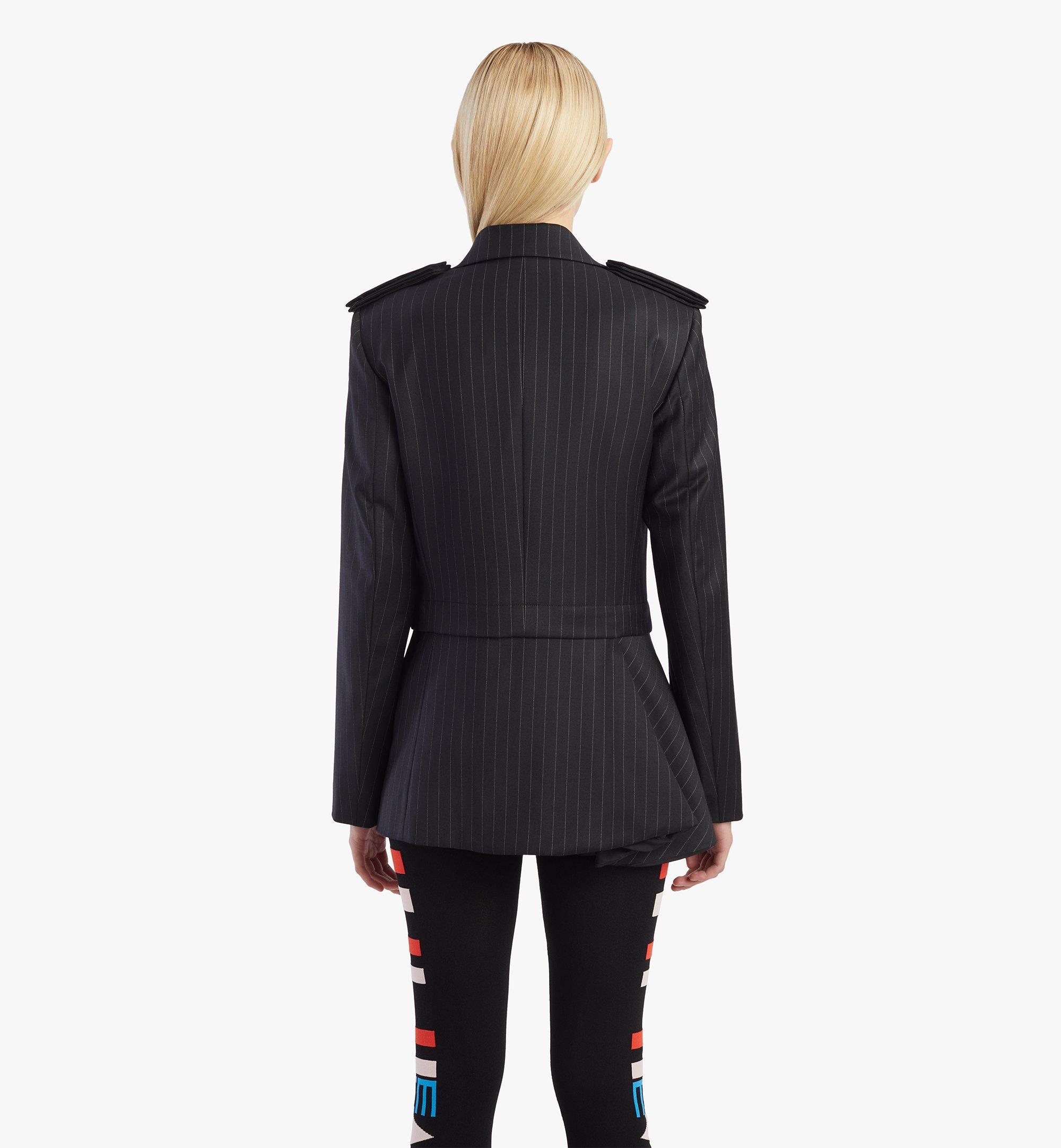 MCM Women's Epaulette Wool Blazer Black MFJBSMM02B2038 Alternate View 6