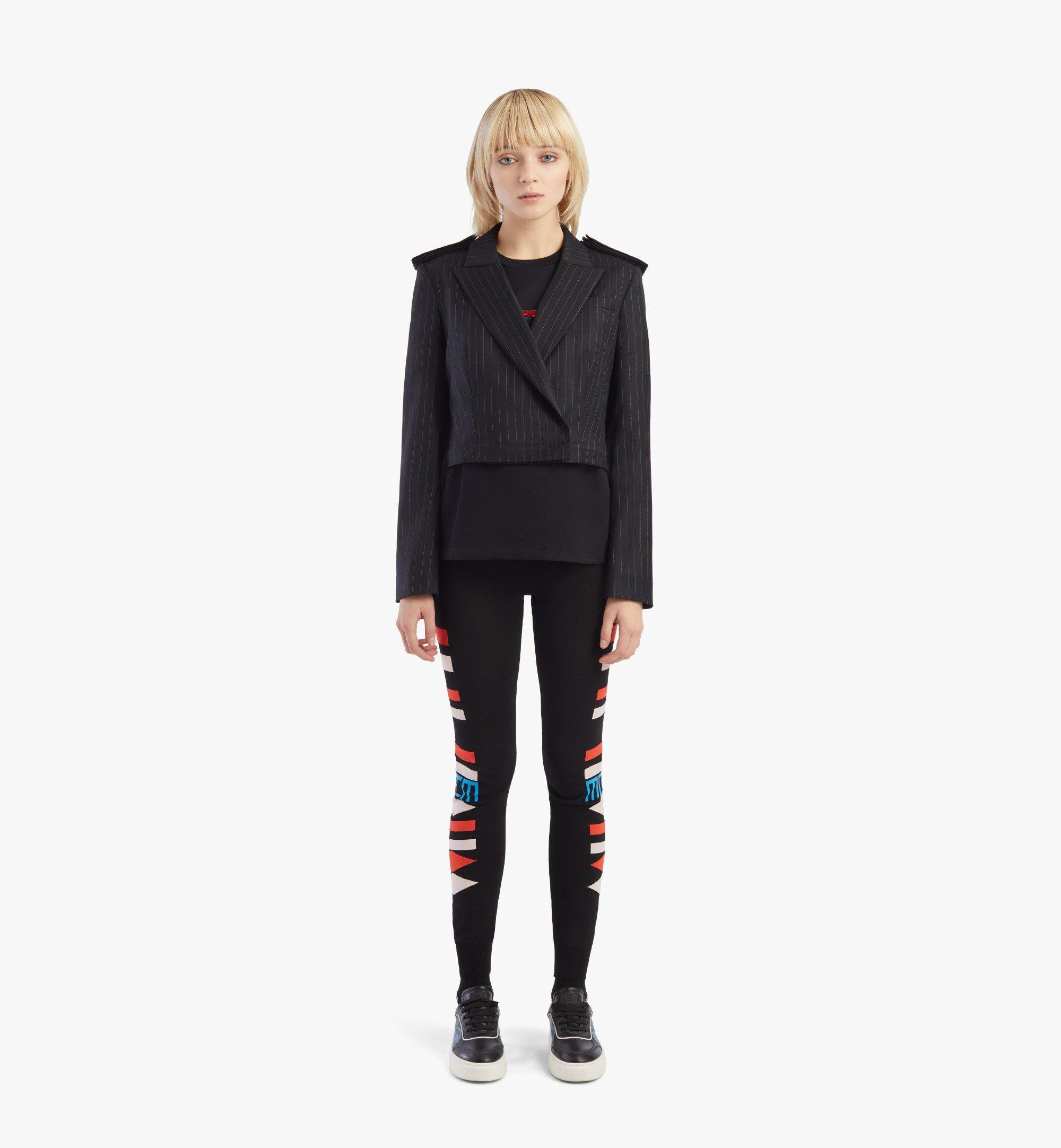MCM 女士肩章羊毛西裝外套 Black MFJBSMM02B2040 更多視圖 4