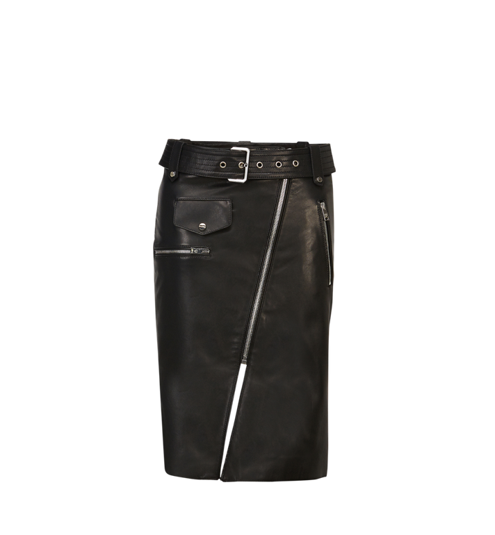MCM Women's Belted Mini Skirt in Leather Alternate View