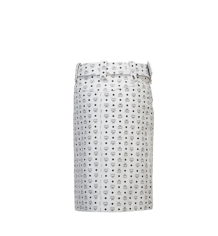 MCM Women's Leather Skirt White MFK8SMM64WI00S Alternate View 3