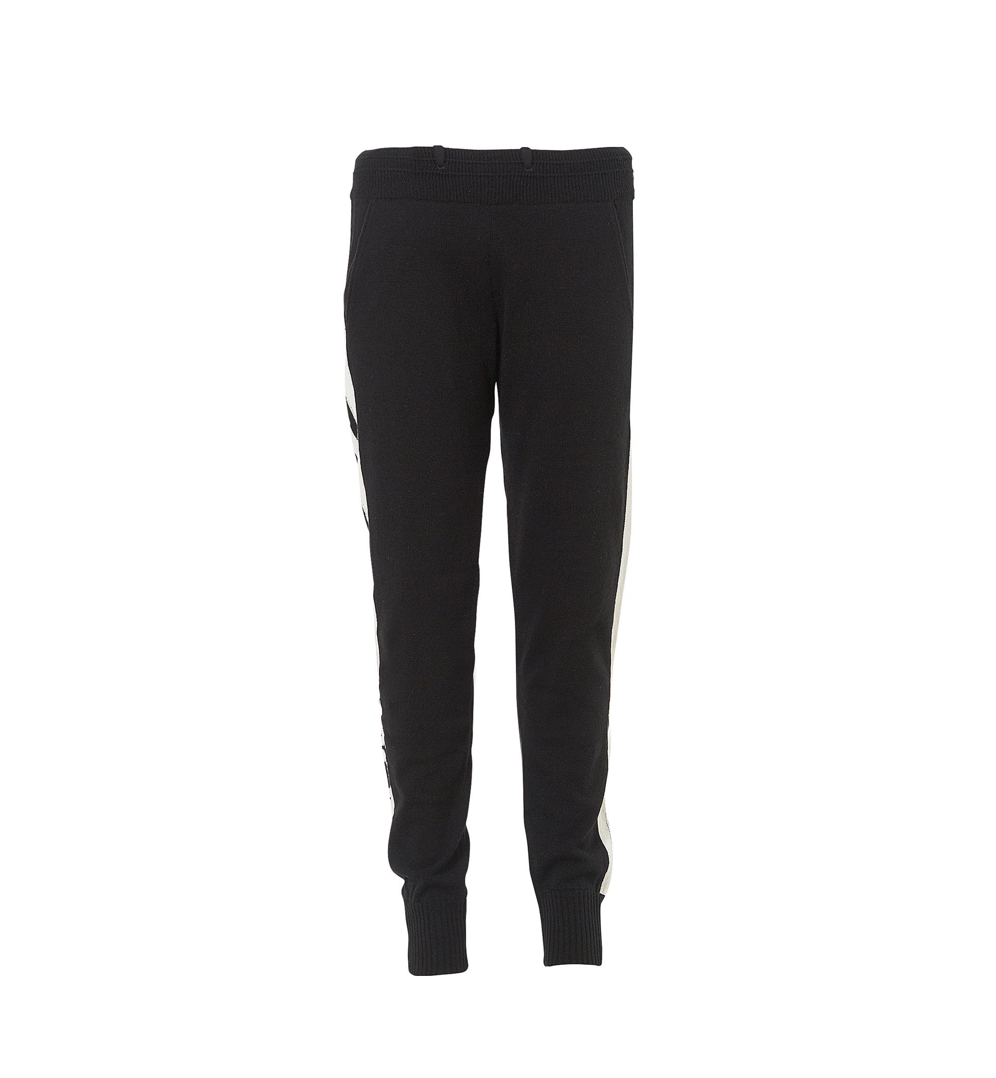 MCM Women's Cashmere Track Pants Black MFP7AMM24BK00L Alternate View 1
