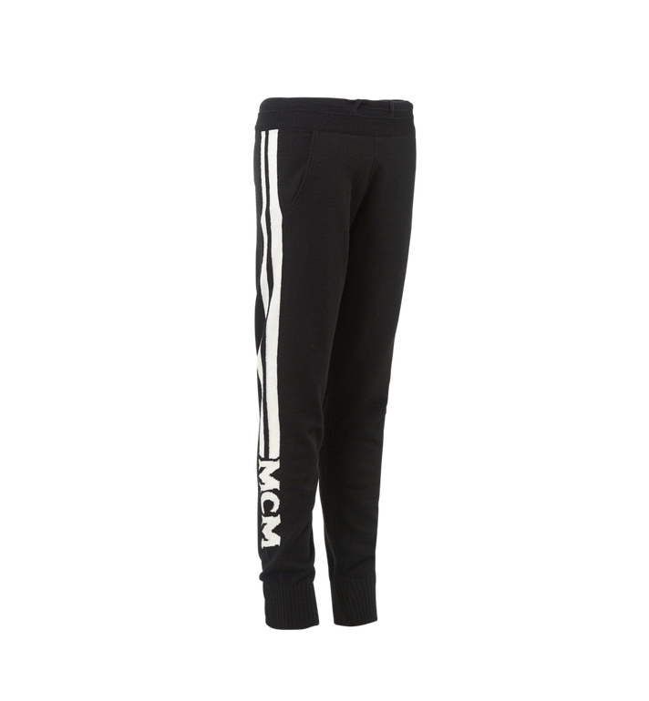MCM Women's Cashmere Track Pants Black MFP7AMM24BK00L Alternate View 2