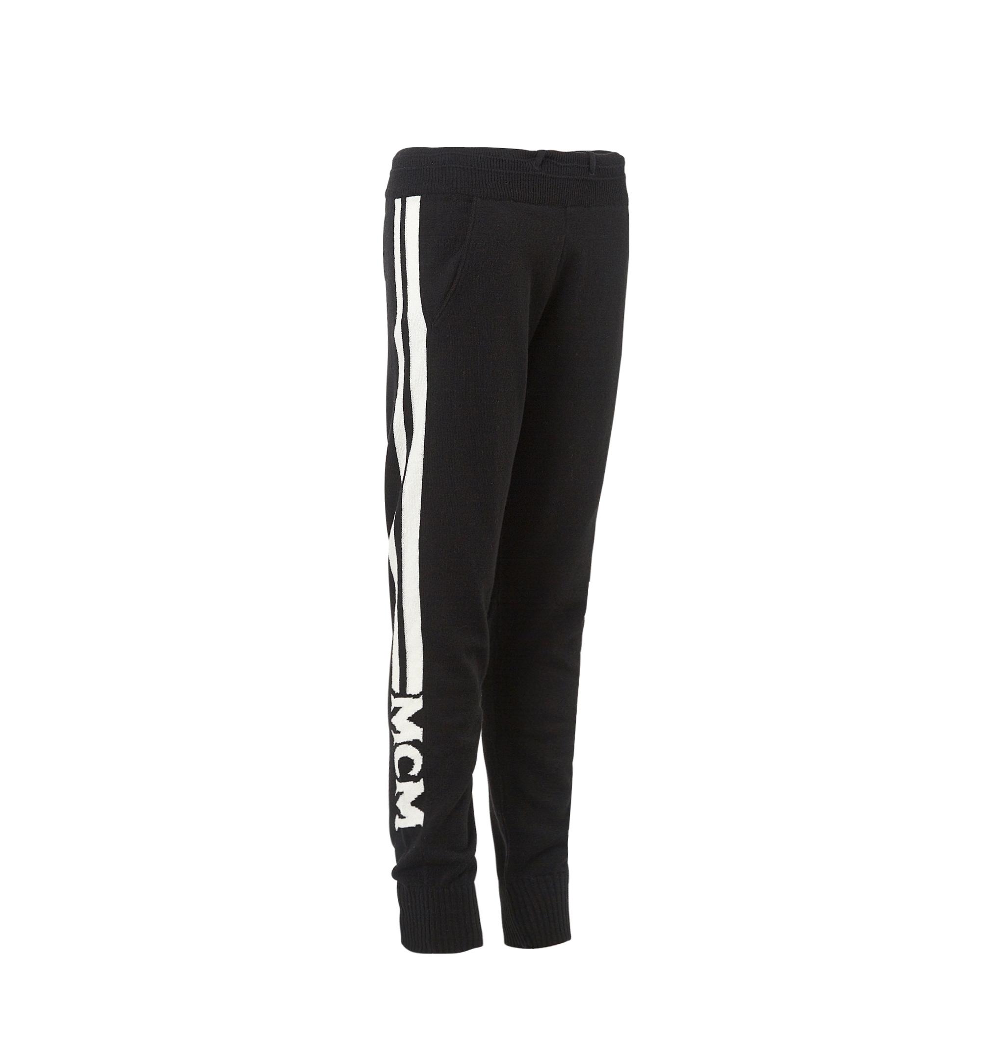 MCM Women's Cashmere Track Pants Black MFP7AMM24BK00L Alternate View 2