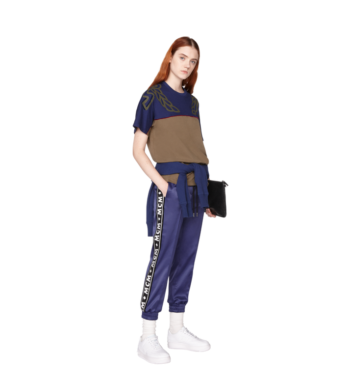 MCM Damen Jogginghose aus Satin mit Logo-Band Alternate View 5