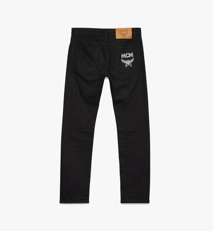 MCM Women's Resnick Standard Fit Jeans Black MFP9ARA44BK024 Alternate View 2