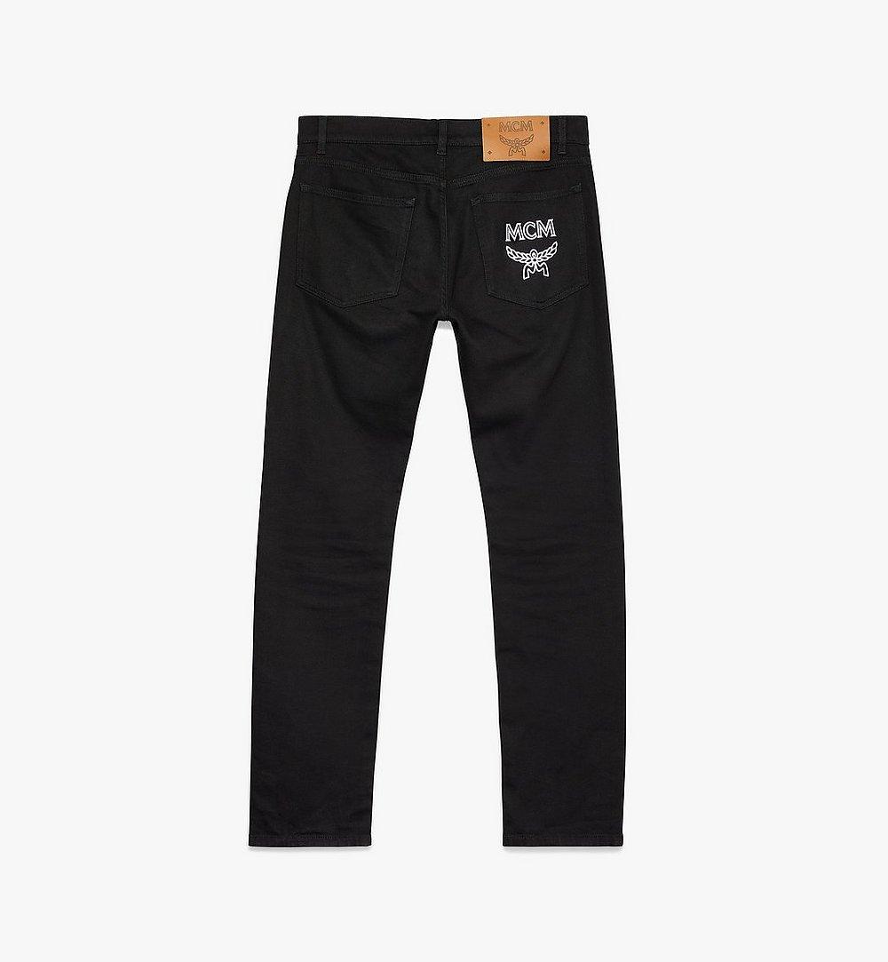 MCM Women's Resnick Standard Fit Jeans Black MFP9ARA44BK026 Alternate View 1