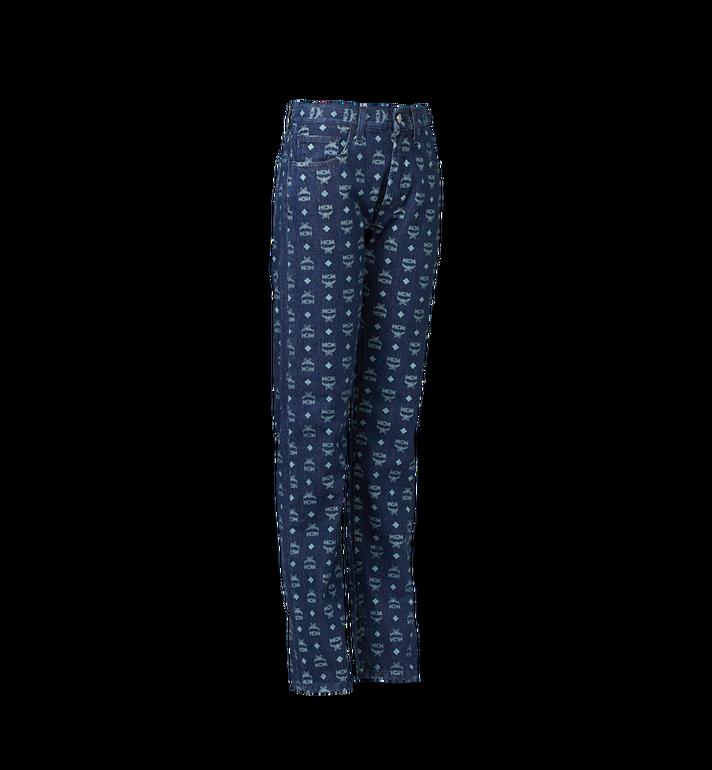 MCM Damen Jeans in Visetos Blue MFP9SMM73HD042 Alternate View 2