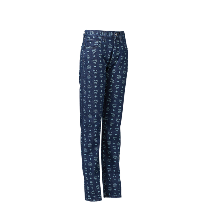 MCM Women's Jeans in Visetos Blue MFP9SMM73HD042 Alternate View 2
