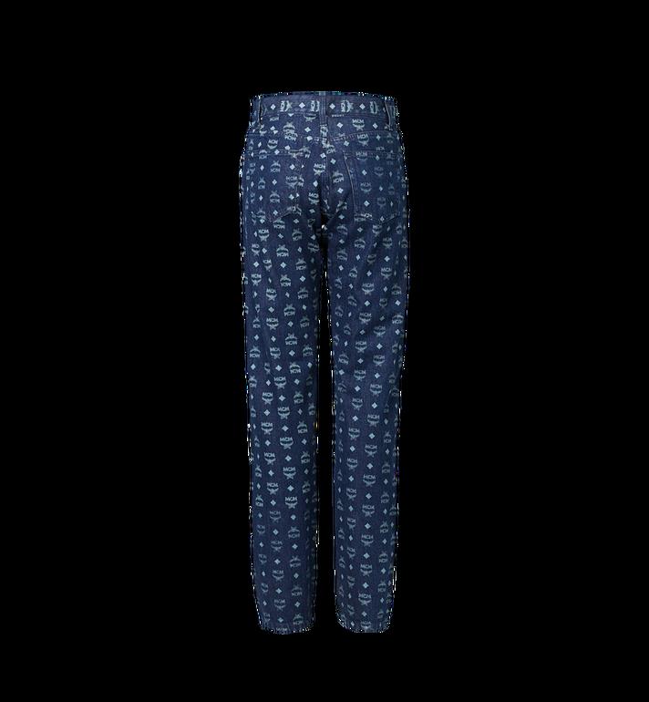 MCM Damen Jeans in Visetos Blue MFP9SMM73HD042 Alternate View 3