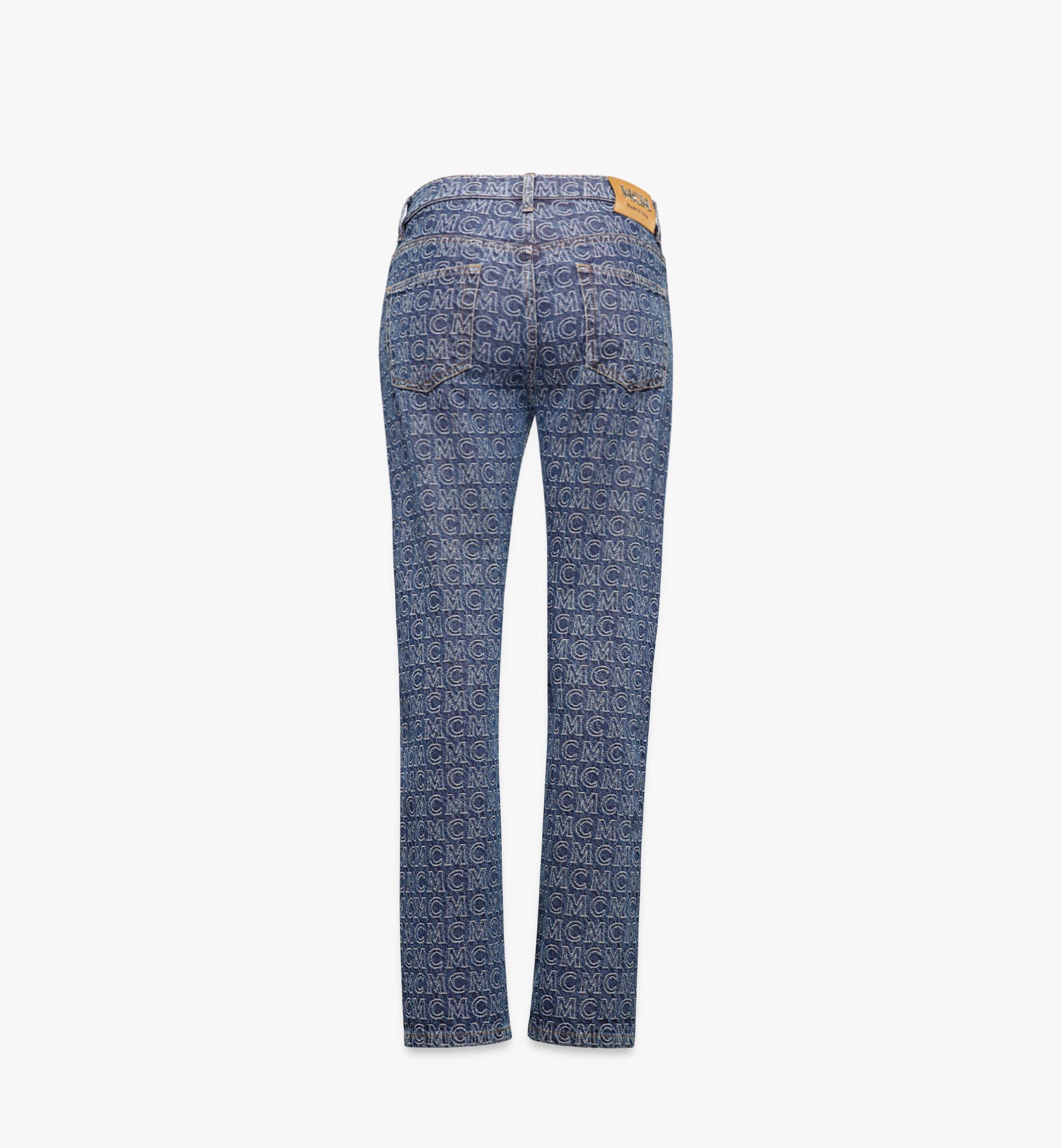 MCM 女士印花直筒牛仔褲 Blue MFPAADS01VW038 更多視圖 1