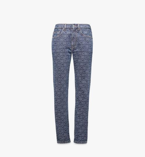 Jeans mit Monogramm und geradem Beinschnitt für Damen