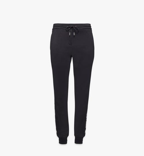 Pantalon de survêtement à demi logo en intarsia pour femme