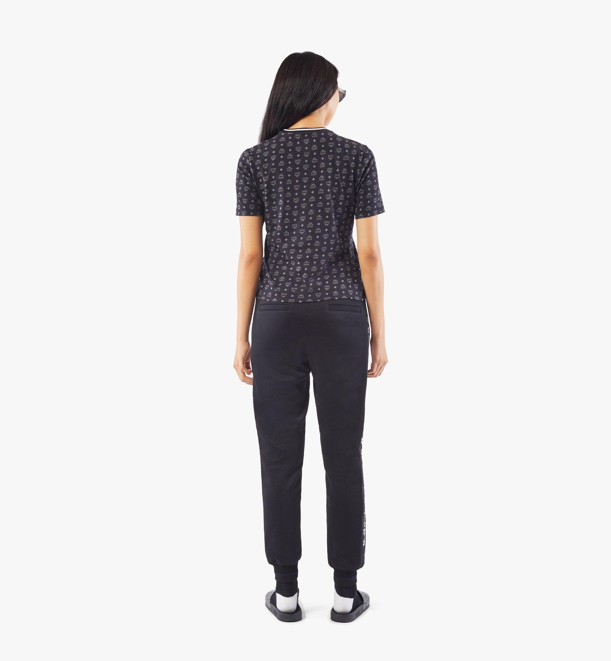 MCM Women's Intarsia Half Logo Sweat Pants Black MFPAAMM07BK00M Alternate View 3