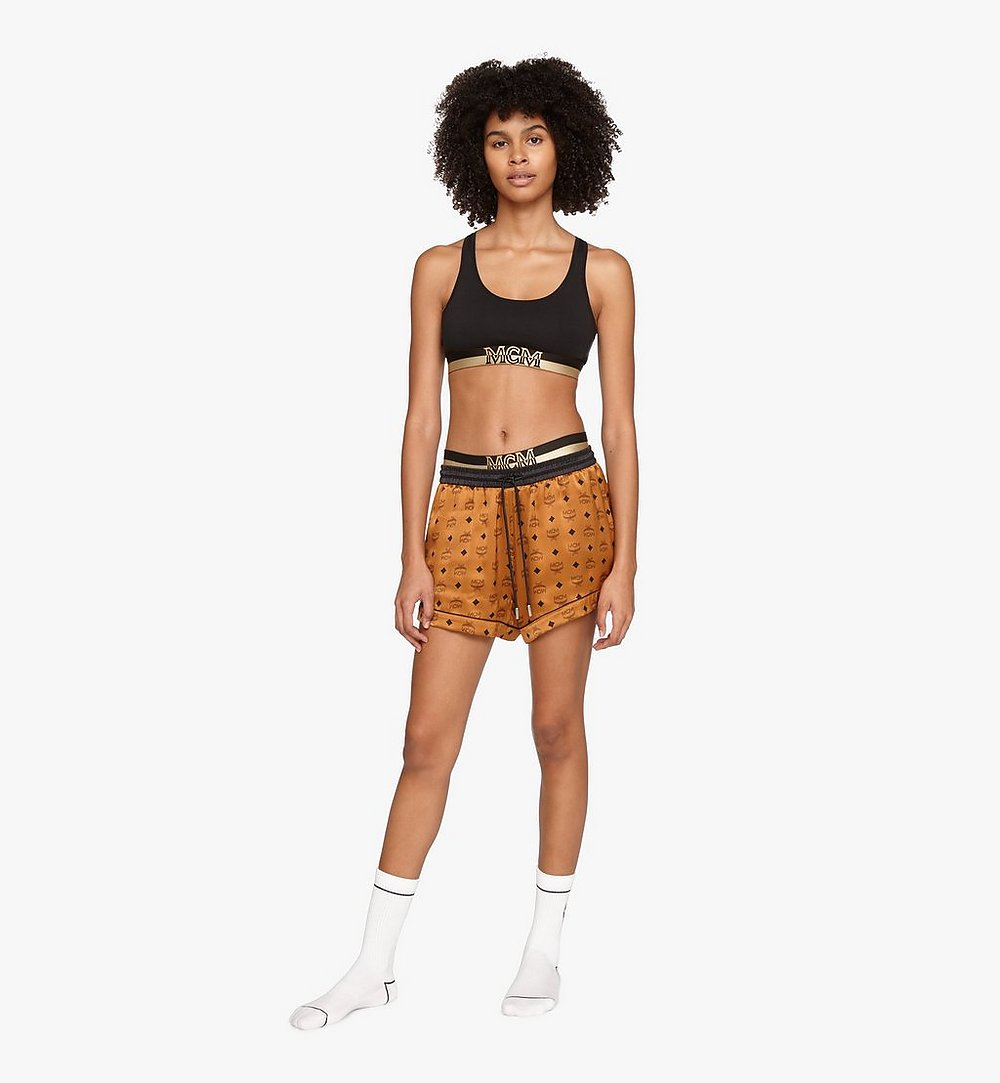 MCM 女士桑蚕丝短款睡裤 Cognac MFPASBM03CO00L 更多视角 2