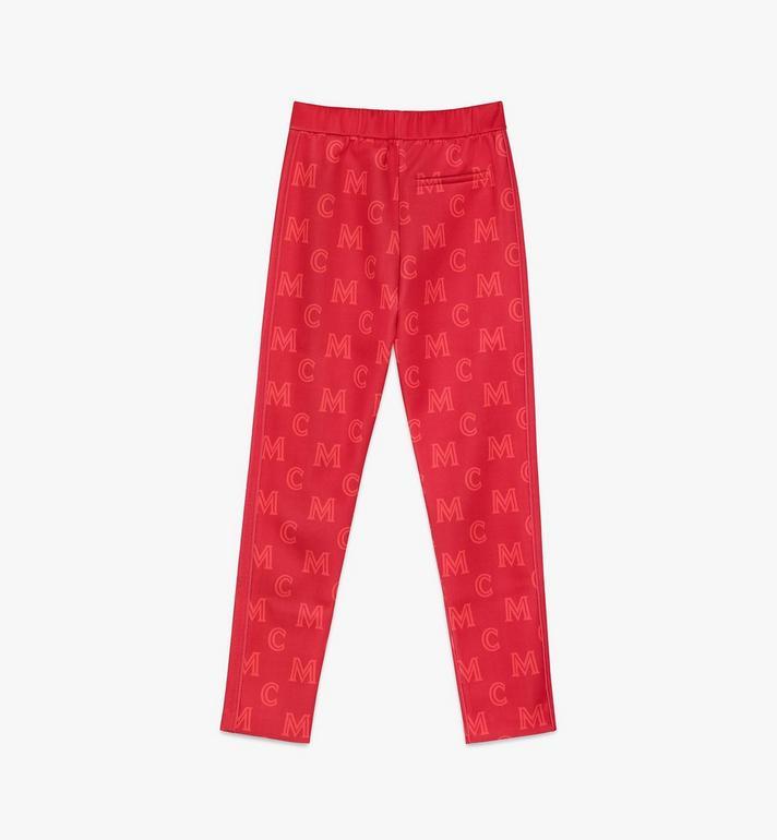 MCM Women's Monogram Track Pants Red MFPASMM01R400M Alternate View 2