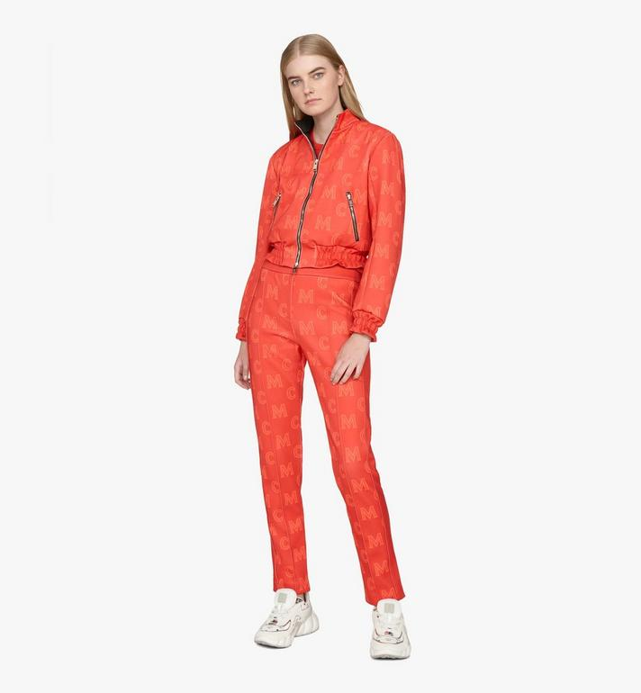MCM Women's Monogram Track Pants Red MFPASMM01R400M Alternate View 3