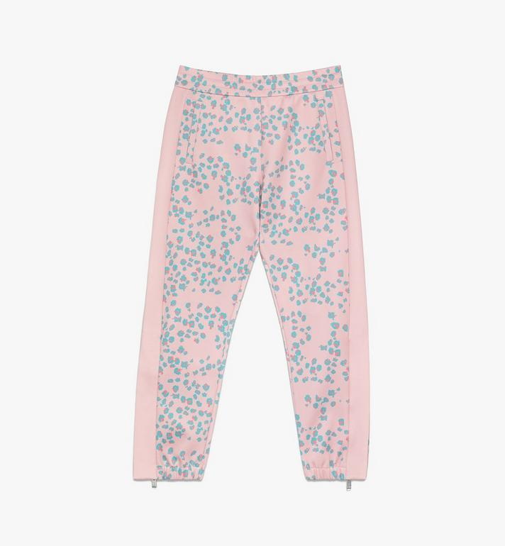 MCM Women's Floral Leopard Print Track Pants Pink MFPASSE01QI00M Alternate View 1