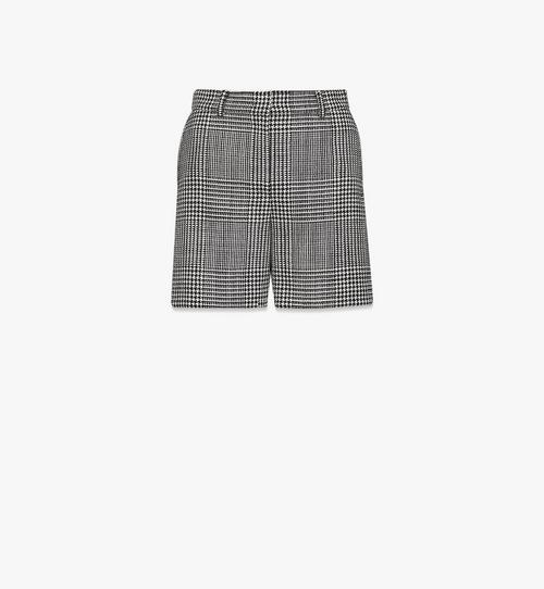 Women's Check Wool Shorts