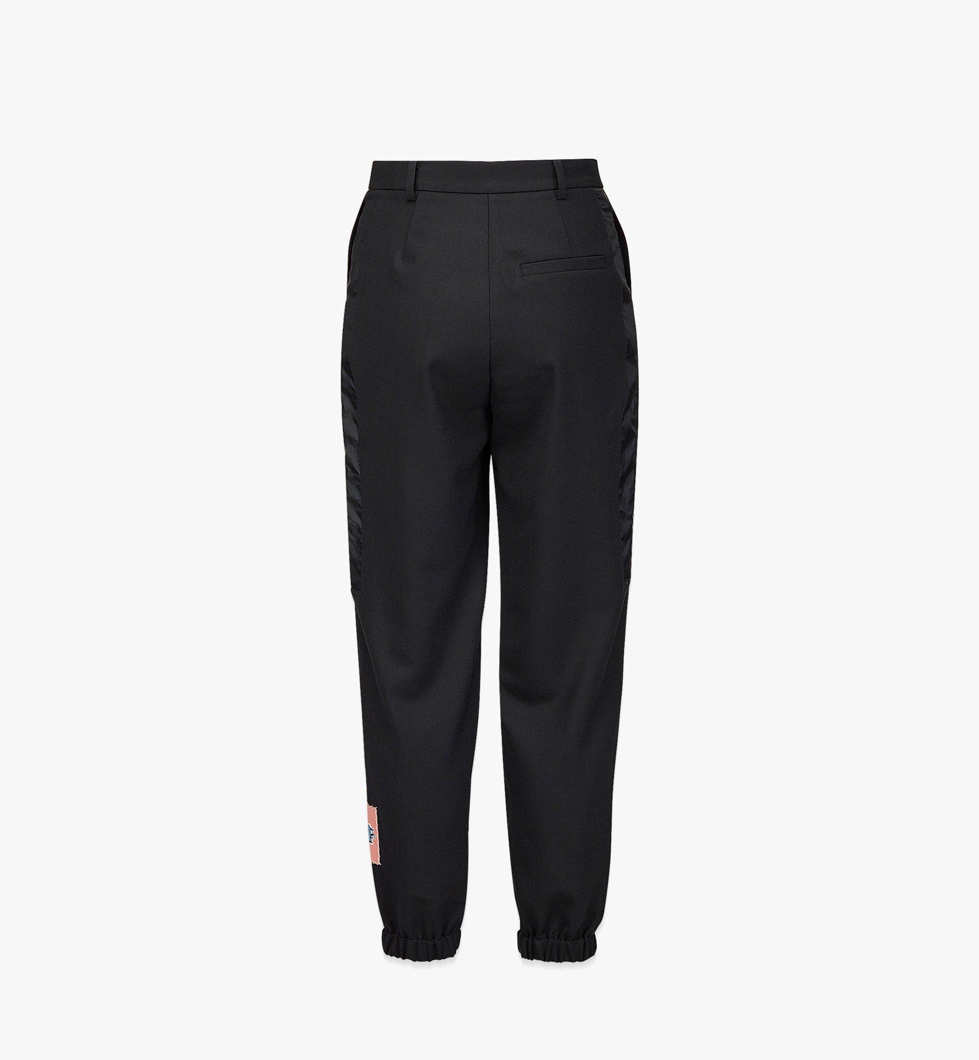 MCM Women's Wool Jogging Pants Black MFPBAMM02BK040 Alternate View 1