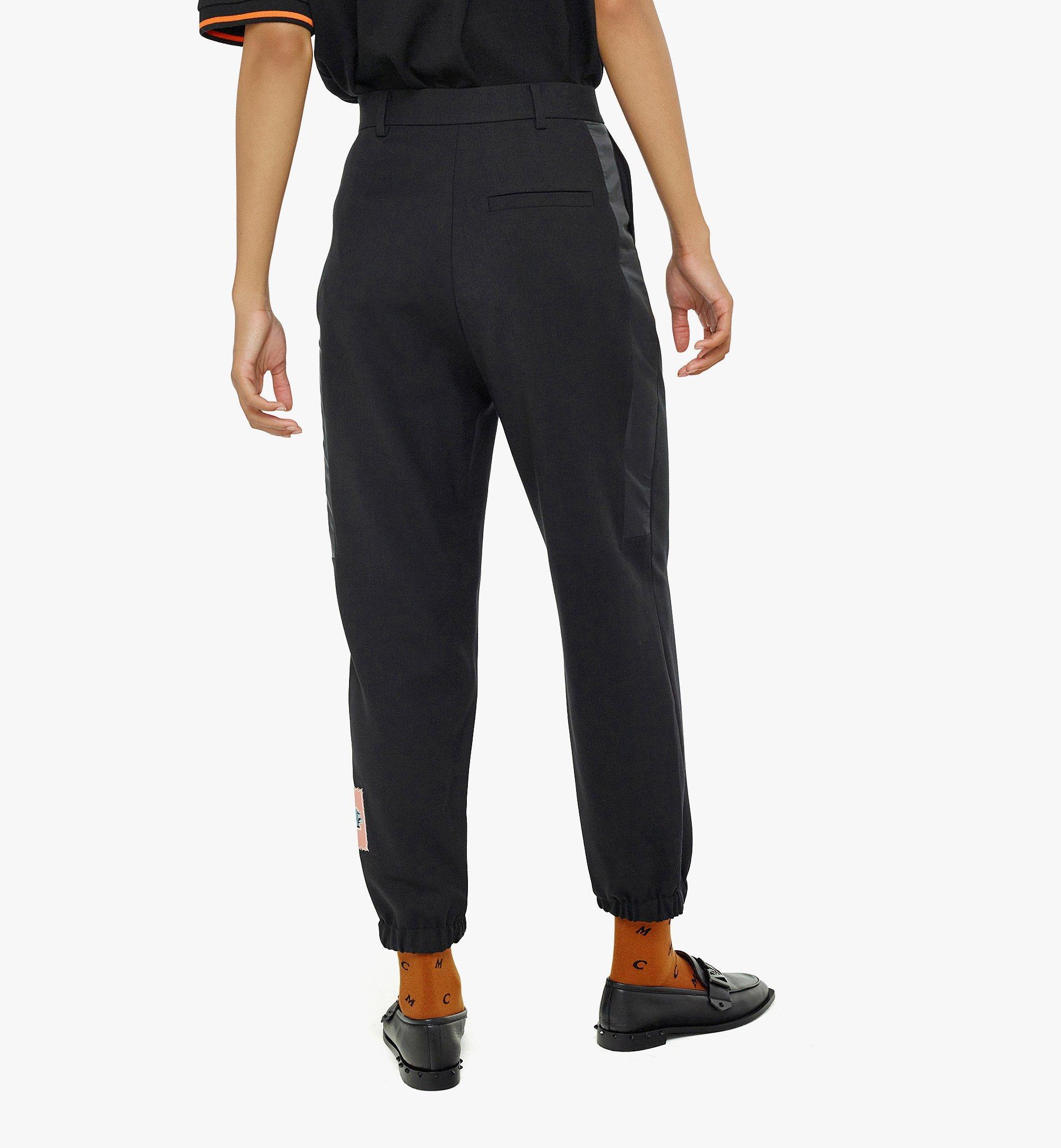 MCM Women's Wool Jogging Pants Black MFPBAMM02BK040 Alternate View 3