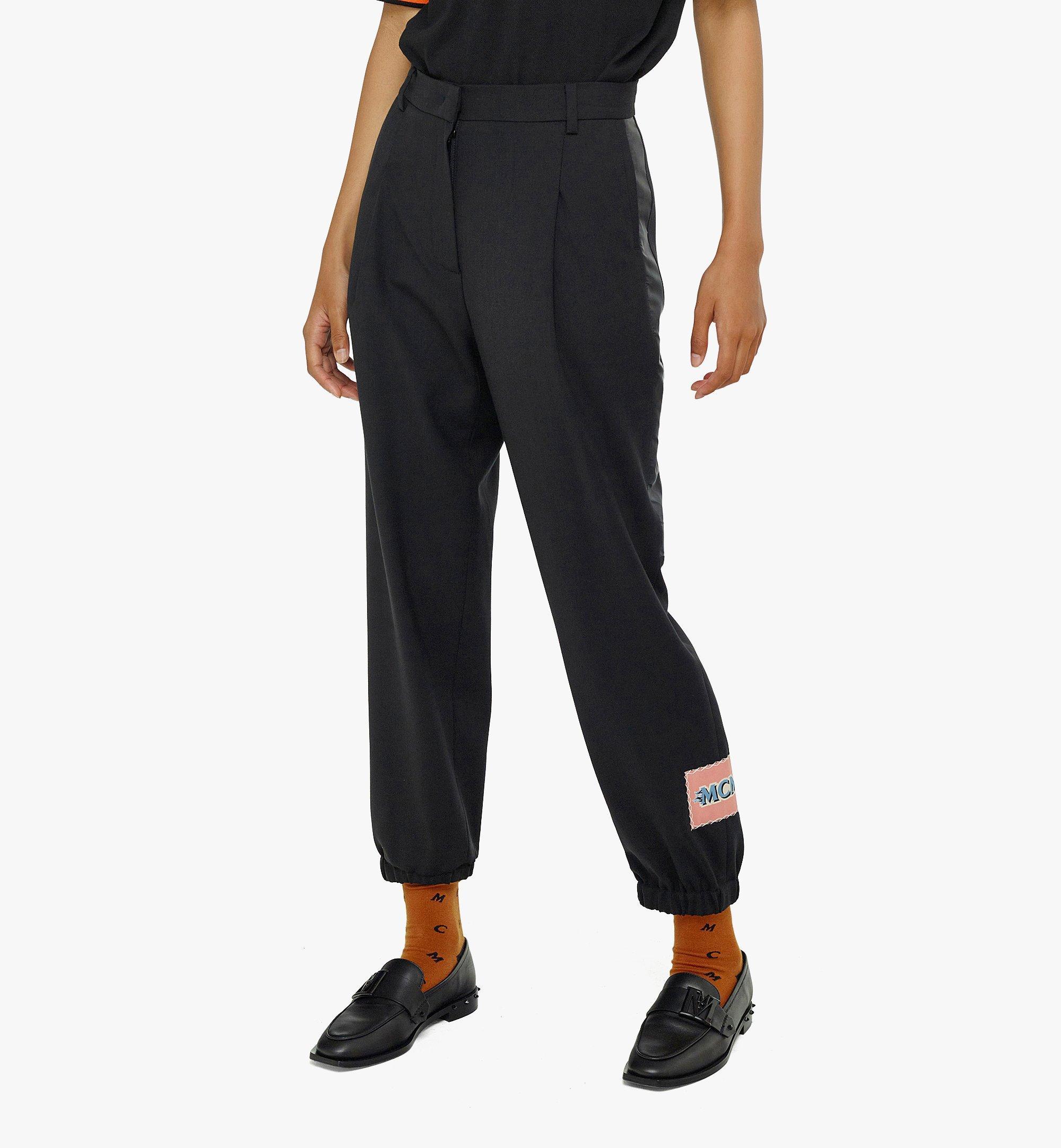 MCM Women's Wool Jogging Pants Black MFPBAMM02BK040 Alternate View 2