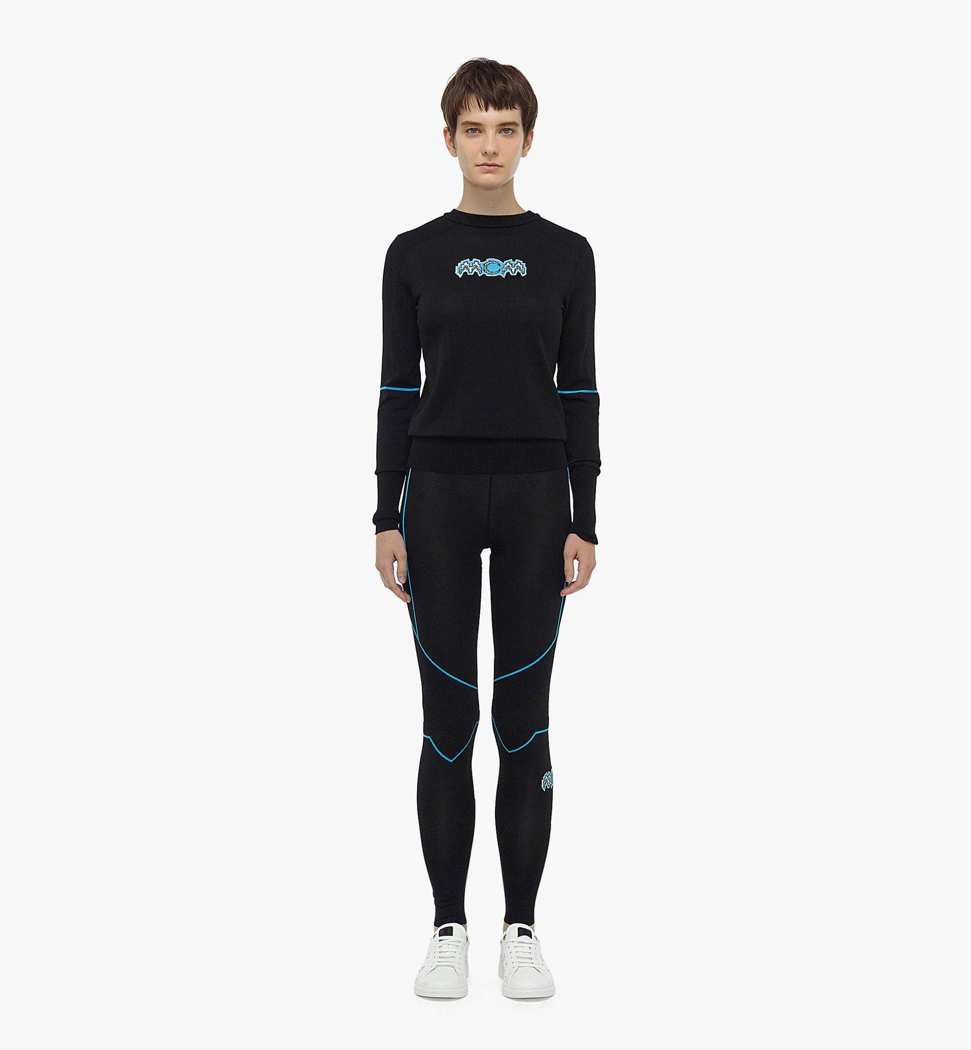 MCM 女士Logo针织紧身裤 Black MFPBAMM03BK00L 更多视角 3