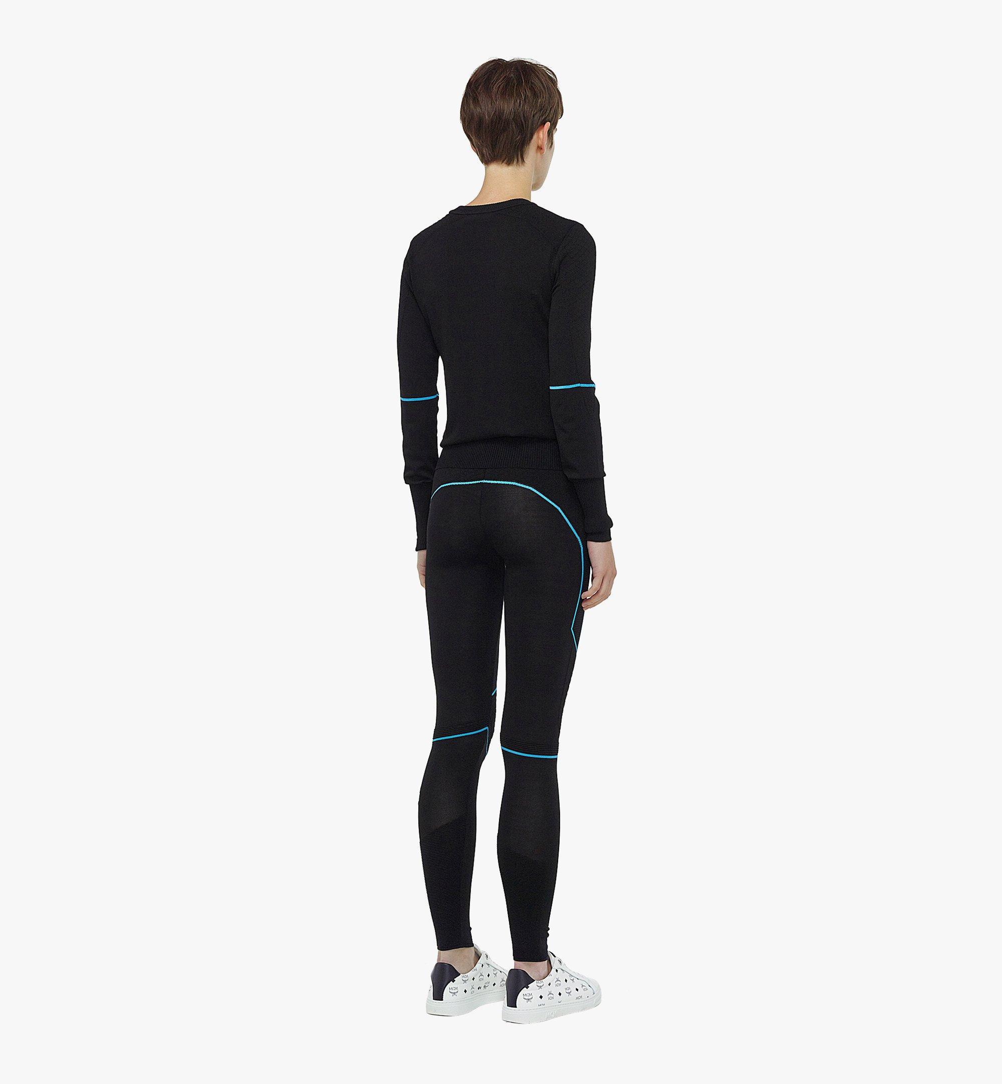 MCM Women's Logo Knit Leggings Black MFPBAMM03BK00M Alternate View 2