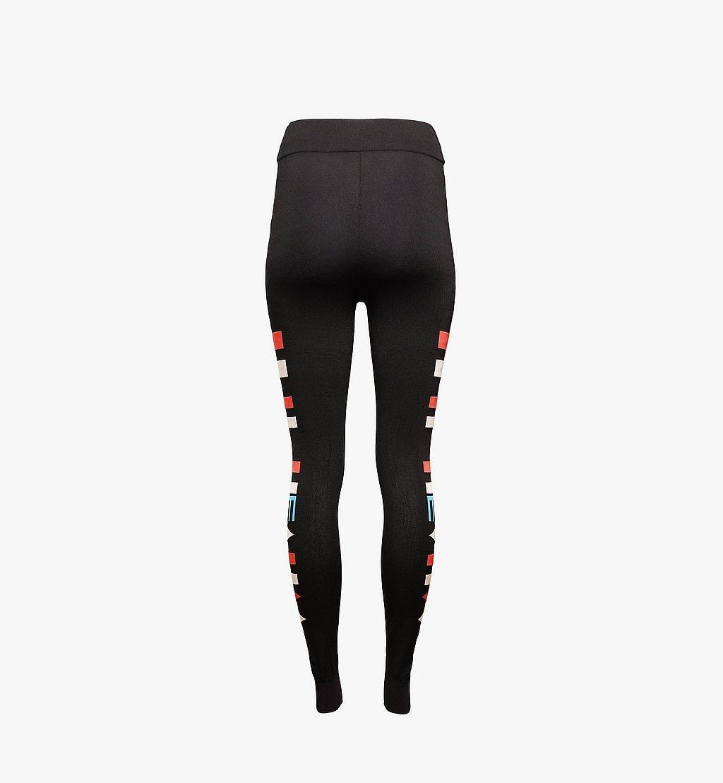 MCM Women's Geo Knit Leggings Black MFPBSMM01B200S Alternate View 1